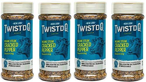 Twist'd Q - Insane Steak Cracked Pepper - 4 Pack - Twisted Q