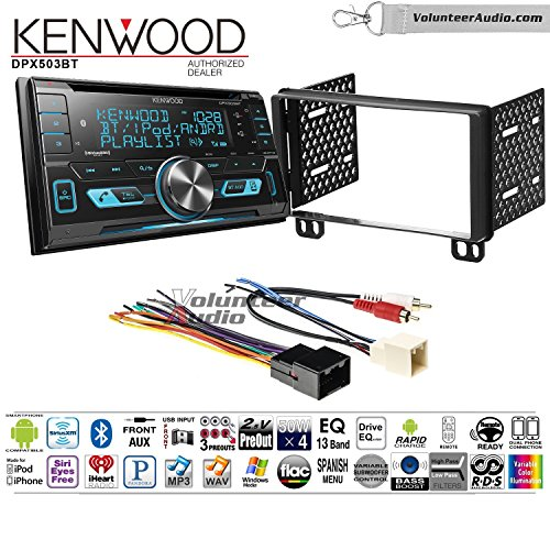 Volunteer Audio Kenwood DPX503BT Double Din Radio Install Kit with Bluetooth CD Player Fits 2002-2005 Explorer, 2001-2004 Mustang