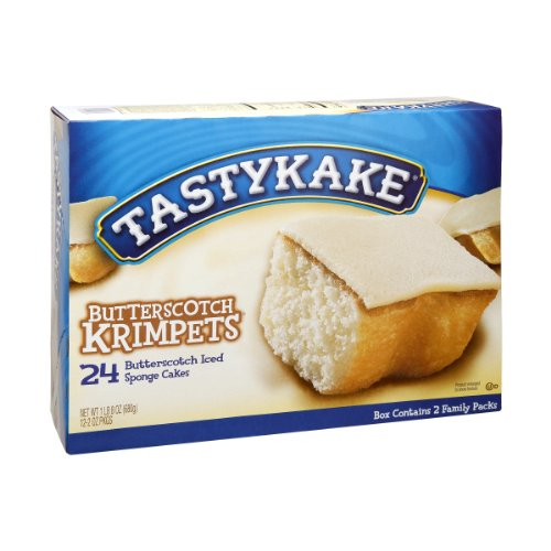 - Tastykake Butterscotch Krimpets - 24 Cakes Total (12 Packs of 2 Cakes)