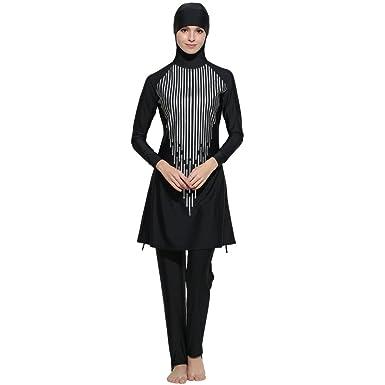 c101594352442 Seafanny Muslim Swimwear Islamic Hijab Modest Swimsuit For Women (Black, S ( AUS Size