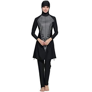 60a1aecdfd7 Muslim Swimwear Islamic Full Cover Modest Swimsuit Beachwear Burkini Women  (Asia S--US