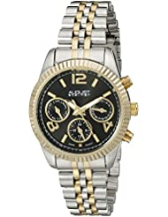 August Steiner Womens AS8103TTGB Swiss Quartz with Black Multifunction Dial and Two Tone Bracelet Watch