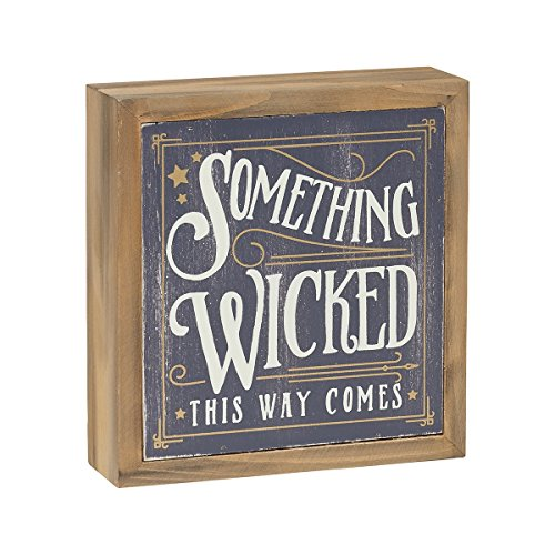 Something Wicked This Way Comes - Box Sign with Wood Frame - Can Hang or Sit - Cute Halloween Fall Decor Gift - Witch Cute