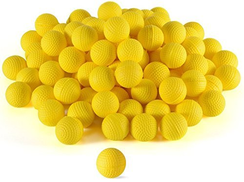 Ray Squad Compatible with/Replacement for 500 Yellow Foam Bullet Balls,Nerf Rival,Apollo, Zeus, Khaos, Atlas, & Artemis Blasters,