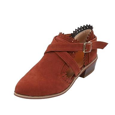 Zapatos de tacón Botines Primavera POLP Mujer Hollow Fuera Zapatos Ronda La Plataforma Talon Plano Antideslizante en Calzado Casual Hueco Zapatos Mujer 2019 ...