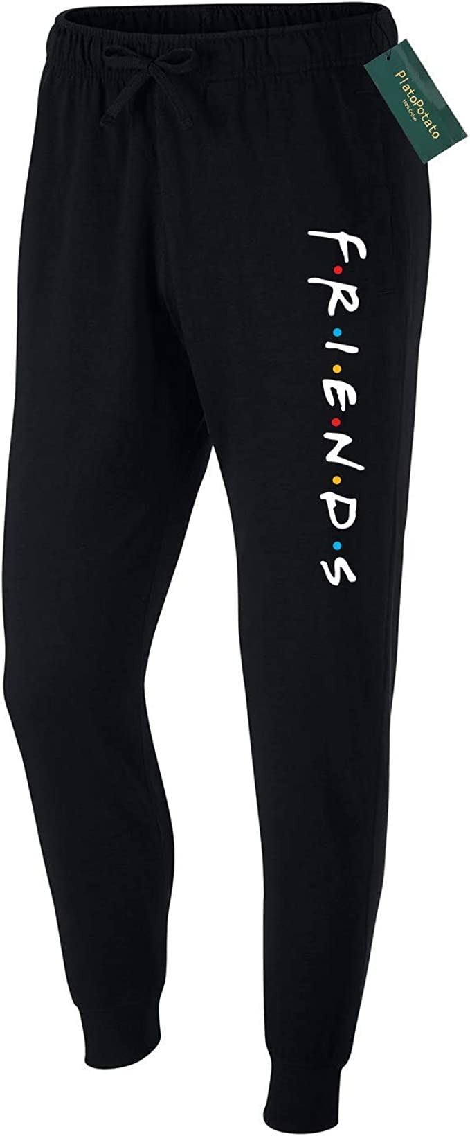 We are Friends Dont Lie TV Show Running Jogger Mid Rise Closed Bottom Knit Sweatpants with Drawstring for Mens