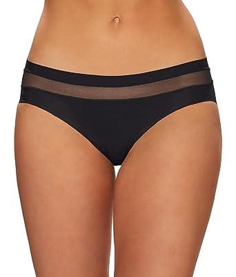 8b949fda6c62a Commando Women's Chic Mesh Hybrid Bikini TU109 Black Underwear at ...
