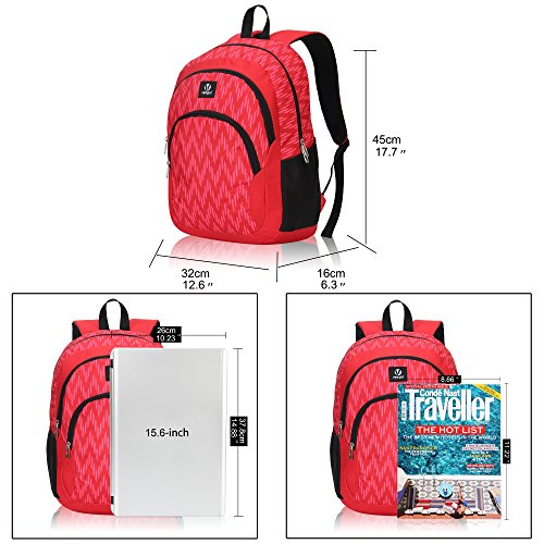 Veegul Cool Backpack Kids Sturdy Schoolbags Back to School Backpack for Boys Girls,Red by Veegul (Image #5)