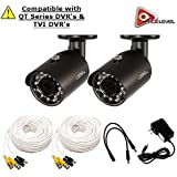 Q-See 4MP HD Bullet Camera 2-Pack: 2688x1520, 3.6mm Lens, 36 IR LEDs, IR up to 100ft, AGC, IP66 - QTH8071B