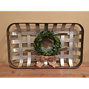 Metal Tobacco Basket and wreath 39