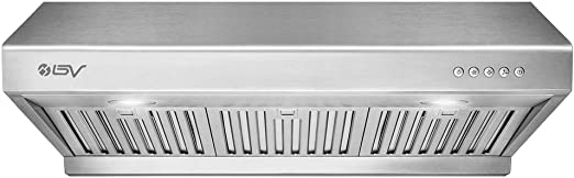 Amazon Com Bv Range Hood 30 Inch 750 Cfm Under Cabinet Stainless Steel Kitchen Range Hoods Dishwasher Safe Baffle Filters W Led Lights Ducted Kitchen Exhaust Fan Hood 30 Inch 750 Cfm Rh 01 Appliances