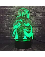 Sasuke 3D LED Nachtlampje Japan Anime Uchiha Itachi Kinderen Lamp Optische 16 Kleurverandering Touch Remote Tafellamp Jongen Kamer Decor Baby Nursing Lamp Kids Slaap Mood Lamp Fans Xmas Verjaardag Toy Gift…