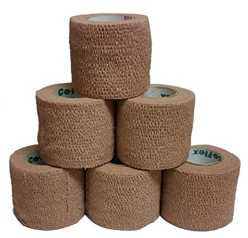 Coflex Cohesive Bandage Tan 2'' x 5YD (6 Roll Pack)