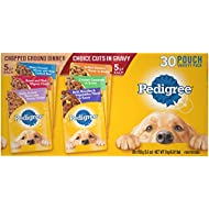 Pedigree Chopped Ground Dinner & Choice CUTS in Gravy Adult Wet Dog Food Variety Pack, 3.5 oz. Pouches