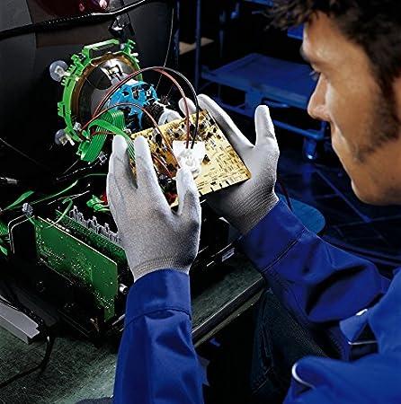 10 Paires de Gants de Travail Uvex Unipur 6639 Avec Rev/êtement PU Gants de Protection Contre les Risques M/écaniques EN 388