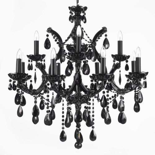 Jet black chandelier crystal lighting 30x28 buy online in uae jet black chandelier crystal lighting 30x28 buy online in uae products in the uae see prices reviews and free delivery in dubai abu dhabi aloadofball Image collections