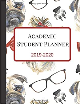 Uf 2020 18 Calendar Academic Student Planner: A Cute Yorkshire Terrier Pet Dog