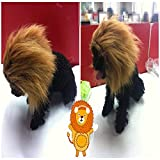 Sporer@Pet Costumes Lion Mane Wig Cat Costume and Small Dog Costume with Complimentary Feathered Catnip Toy Brown Headwear Hat with Ears for Halloween, Christmas (C) by SPORER