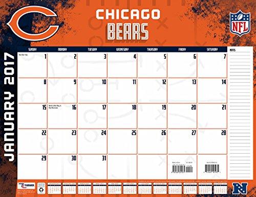 "Turner Licensing Sport 2017 Chicago Bears Desk Pad Calendar, 22""X17"" (17998061531)"