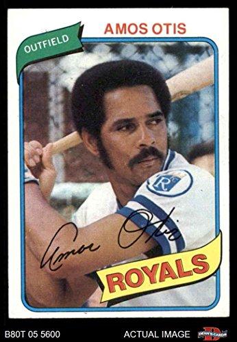 - 1980 Topps # 130 Amos Otis Kansas City Royals (Baseball Card) Dean's Cards 7 - NM Royals