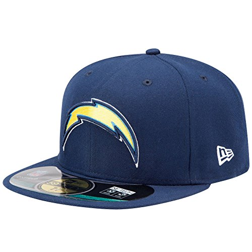 NFL San Diego Chargers On Field 5950 Game Cap, Navy, 7 5/8