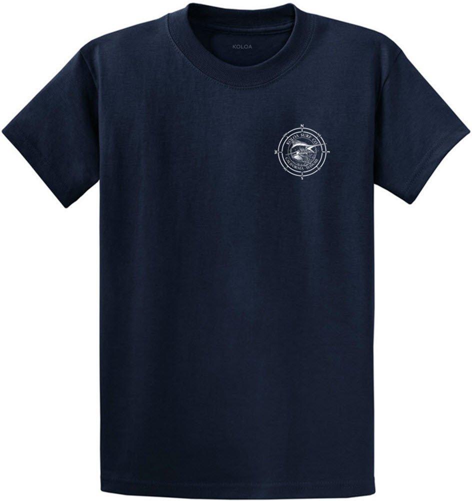 Joe's USA Koloa Surf カスタムグラフィック重量系コットンTシャツ レギュラー、ビッグ、トール B06Y4F7Z9D 6L,Navy With White Logo