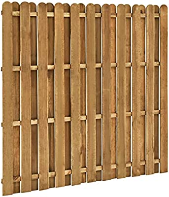 Tidyard Panel de Valla de jardín Madera de Pino FSC 180x170 cm: Amazon.es: Hogar