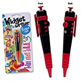 Widget Writer -Red Fidget Pen - The Fun of a Fidget Cube in One handy Pen - 7 Functions - Ideal for School or Office - ADHD, ADD, Anxiety, Autism, Attention & Stress Relief - Fidget Pen Focus Toys