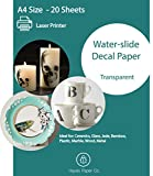 Hayes Paper, Waterslide Decal Paper LASER CLEAR