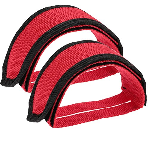 Mycherish Bicycles Fixed-Gear Track Style Foot Retention Bike Straps Red Single Track Cycling Gloves