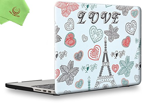 UESWILL Rubberized Unique Pattern Solid Hard Shell Case Cover for MacBook Pro 15