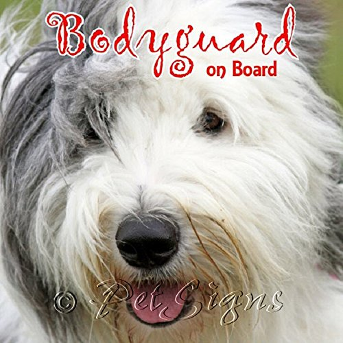 Petsigns Hunde Aufkleber Bobtail - Dauerhaft haltbarer Sticker - Old English Sheepdog 10 x 10 cm