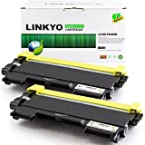 LINKYO Valueline Replacement Brother TN450 TN-450 TN420 TN-420 High Yield Black Toner Cartridge for HL-2240 HL-2240D HL-2270DW HL-2280DW DCP-7060D DCP-7065DN MFC-7360N MFC-7860DW (2-Pack)