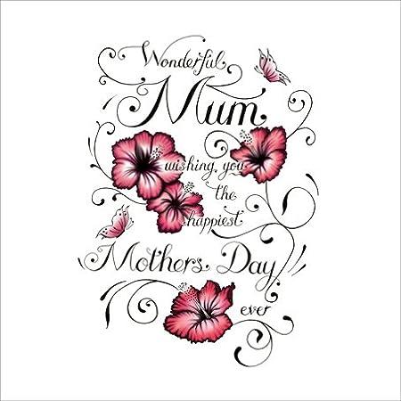 S371 - Tarjeta del día de la madre estilo tatuaje, con texto en ...