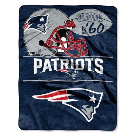 New England Soft Blanket Patriots (The Northwest Company NFL New England Patriots Conference - Silk Touch Throw Blanket, 55