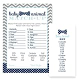 Bow Tie Animal Match Baby Shower Game Cards - Set of 25