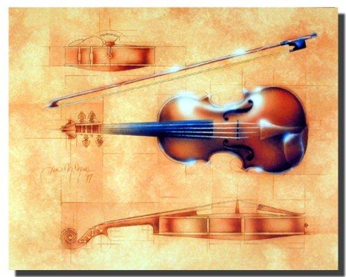 Wall Decor Fine Arts Instrument (Violin) Art Print Poster ()
