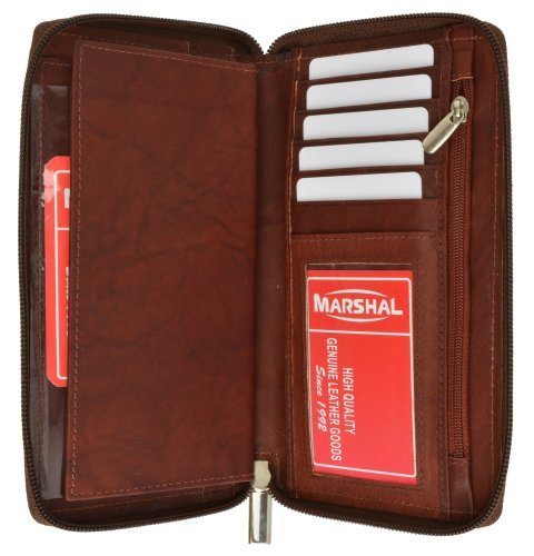 Genuine Leather Checkbook Cover Zippered product image