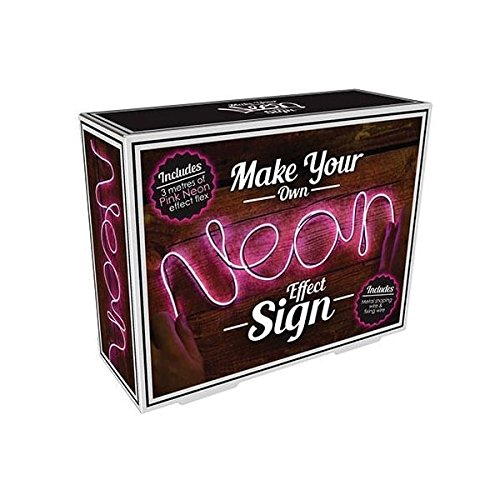 Make Your Own Neon Effect Sign 3M Neon String Light Message Kit (Pink) (Gifts Neon Sign)