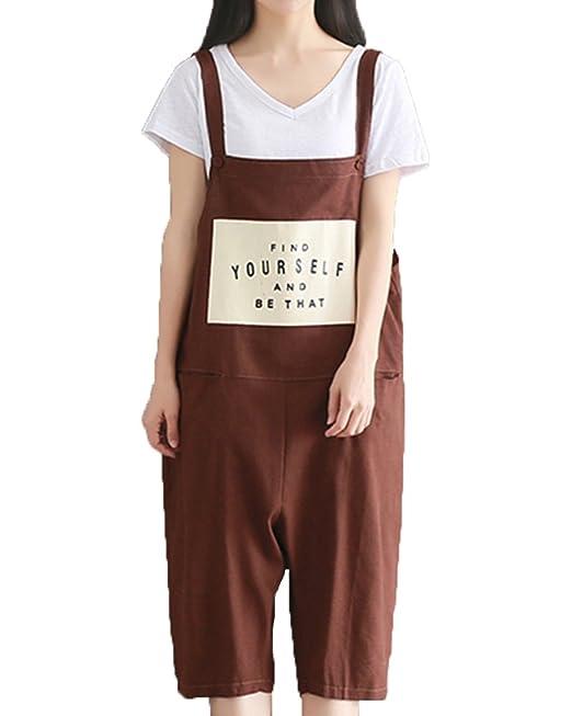 ZhuiKunA Petos para Mujeres Tamaño Grande Chicas Baggy Personalidad Imprimir Monos Pantalones: Amazon.es: Ropa y accesorios