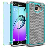 Samsung Galaxy A5 (2016) / A510F Case, INNOVAA Smart Grid Defender Armor Case (Not Compatible with Samsung Galaxy A5 (2015)) W/ Free Screen Protector & Touch Screen Stylus Pen - Grey/Teal