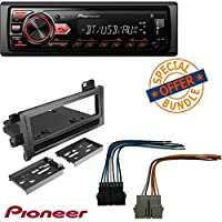 Pioneer MVH-291BT Car Stereo Media Player Bluetooth USB AUX MIC Hands Free Calls W/ Metra 99-6000 Single DIN Installation Kit for 1974-2003 Chrysler, Dodge, Eagle, Jeep, and Plymouth Vehicles