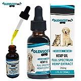 Glenscot Hemp Oil Dogs & Cats (250mg)- Anxiety - Allergy & Arthritis Relief - Hip & Joint Health-100% Organic -Pet Hemp Oil