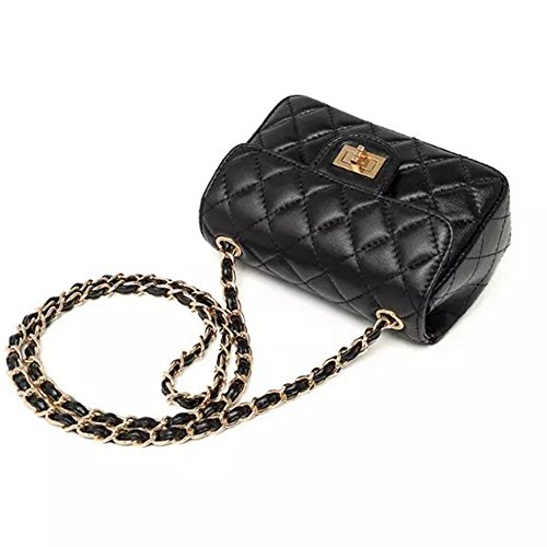Cuero For Mujer Women Negro Marca Moda Sheli Quilted Bolso Bags Bandolera q8w5WEz