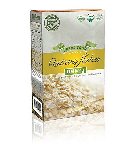 Nathary 100% Natural Quinoa |Gluten Free |USDA Organic |Super Food |Healthy by Nature |Advanced Nutrition | antioxidants | High Protein |High Fiber | Weight Loss | Diet Plan | (Quinoa Flake)
