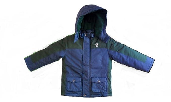 974a3001e Amazon.com  IZOD Boy s Hooded Winter Coat - Blue Green  Clothing