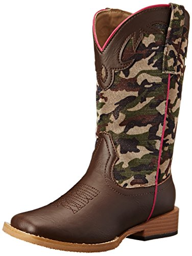 Roper Camo Cowgirl Square Toe Camo Cowgirl Boot (Toddler/Little Kid), Brown, 2 M US Little (Toddler Camo Cowgirl Boots)