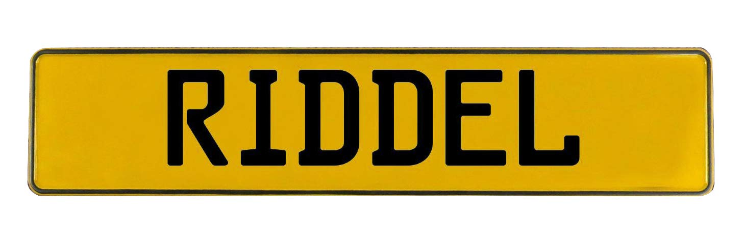 Riddel Yellow Stamped Aluminum Street Sign Mancave Vintage Parts 745380 Wall Art