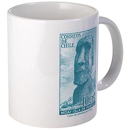 CafePress 1965 Chile Easter Island Moai Statue Postage Stamp Unique Coffee Mug, Coffee Cup ()