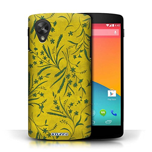 Etui pour LG Google Nexus 5/D821 / Jaune/Vert conception / Collection de Motif floral blé
